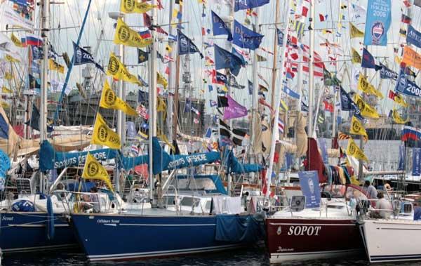Banderas en barcos