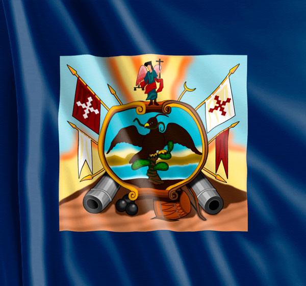 Bandera de Allende reverso cruz