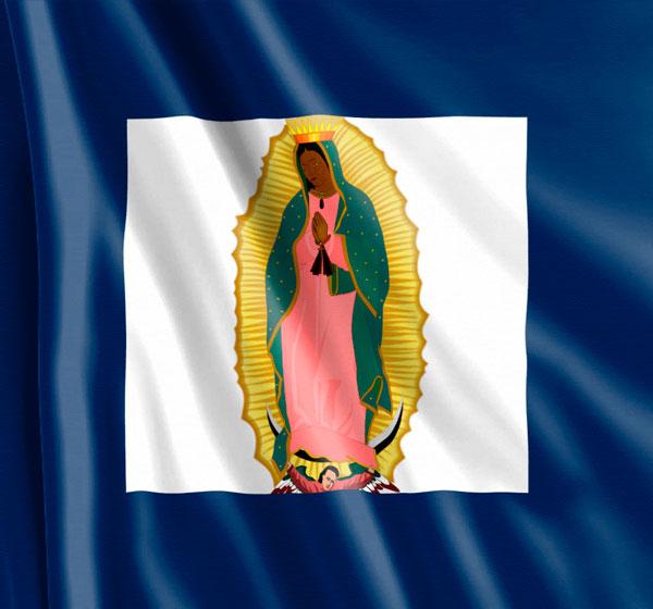 Bandera de Allende anverso Nuestra Señora de Guadalupe