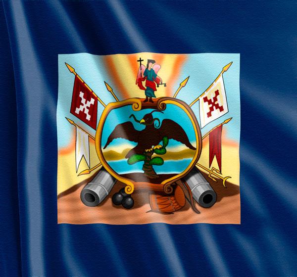 Bandera de Allende anverso reverso equis