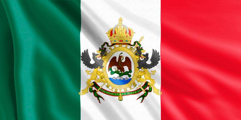 Bandera-del-Segundo-Imperio-Mexicano-(1865-1867)