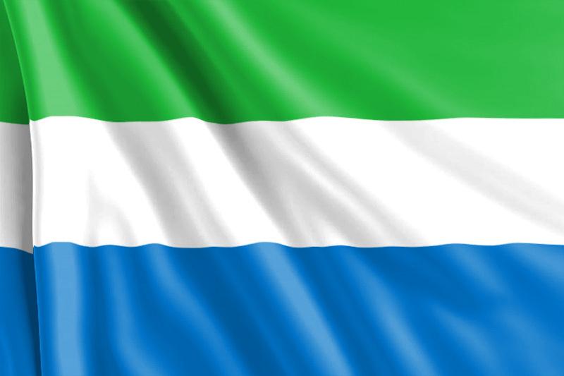 Bandera Sierra Leona